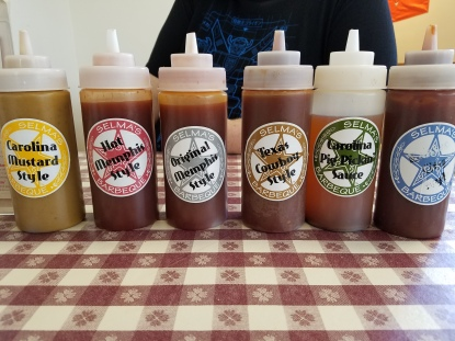 The sauce on the far right is their Kansas City Style