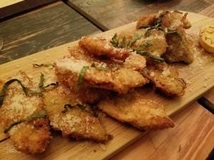 fried artichokes, lemon & basil