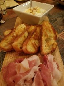 Prosciutto, Honey, Almonds & Toasted Bread