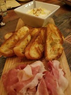 Prosciutto, Honey, Almonds & Toasted Bread