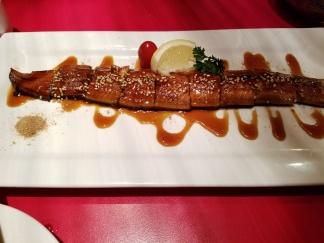 6 teppanyaki kyoto whole eel